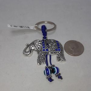 LUCKY ELEPHANT KEY CHAIN WITH RHINESTONES NEW (A3)